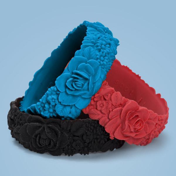 O bracelet flower big