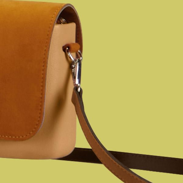 O pocket handles and straps