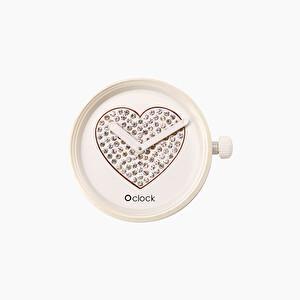 Meccanismo sparkling hearts bianco O clock | O bag