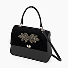 O bag queen black with velvet flap