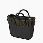 O bag mini black wool