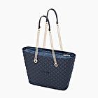 O bag urban matelassè floral military blue