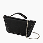 O bag sheen black studs