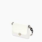 O bag glam total white with shoulder strap