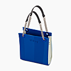 O bag double mini blu imperiale