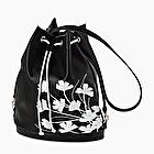 O bag tote black and white