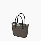 O bag vulcano with check innerbag