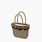 O bag rock with eco fur murmasky trim