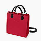 O square red with black shoulder strap