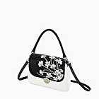 O bag glam black and white marigold
