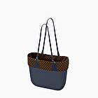 O bag blue navy jaquard
