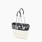 O bag white with prince of wale trim