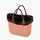 O bag mini phard with eco fur trim