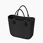 O bag mini black herringbone pattern