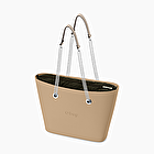 O bag urban sabbia con manico lungo