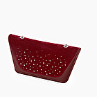 O bag sheen bordeaux studs