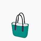 O bag herbe bleue et bleu marine nappa