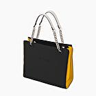 O bag double nero e giallo