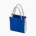 O bag double mini blue and white