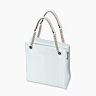 O bag double mini ice and white