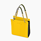 O bag double mini giallo e nero