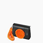 O bag glam arancione fluo con manicotto