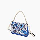 O bag glam leche y azul imperial