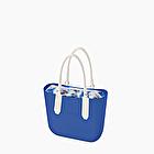 O bag blu imperial crepe de chine