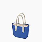 O bag blu imperial e sabbia