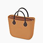 O bag mini galleta nubuck y marrón oscuro