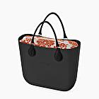O bag mini black damask rust