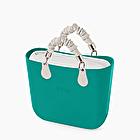 O bag mini blue grass rouche