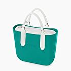 O bag mini blue grass e bianco