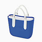 O bag mini bleu impérial et blanc