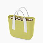 O bag mini verde apio adamascada aguacate