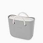 O bag mini light grey, milk and white