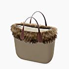 O bag mini rock eco fur trim