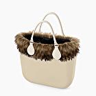 O bag mini sable garniture naturelle