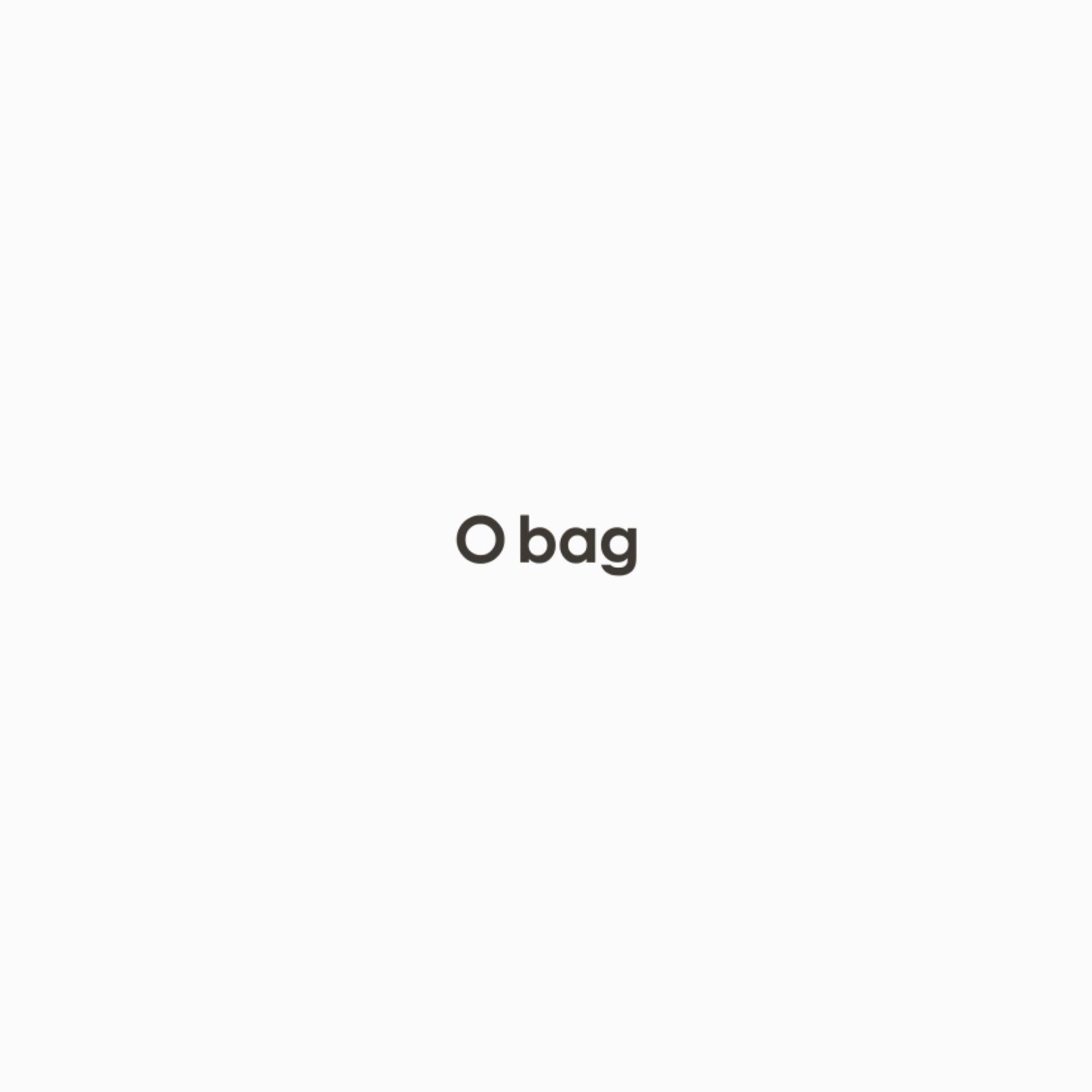 O bag navy blue with eco fur trim