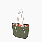 O bag nubuck rust and military