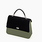 O bag queen military and mutton fabric black