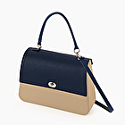 O bag queen sand and navy blue