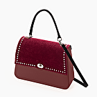 O bag queen velvet bordeaux and pearls