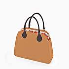 O bag reverse biscuit and rust damask