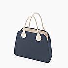O bag reverse navy blue and sand