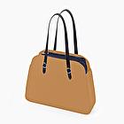 O bag reverse cammello e blu navy