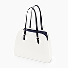 O bag reverse milk and navy blue