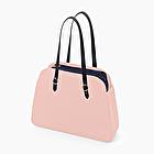 O bag reverse rosa smoke e blu navy