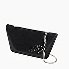 O bag sheen black with strass