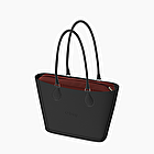 O bag urban black and nubuck bordeaux